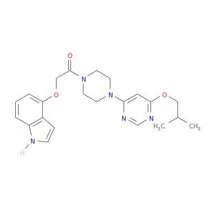 CC(COc1ncnc(c1)N1CCN(CC1)C(=O)COc1cccc2c1cc[nH]2)C