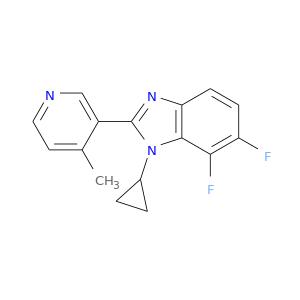 Cc1ccncc1c1nc2c(n1C1CC1)c(F)c(cc2)F