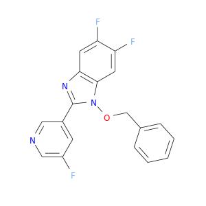 Fc1cncc(c1)c1nc2c(n1OCc1ccccc1)cc(c(c2)F)F